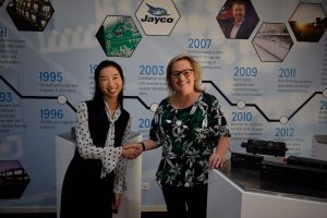 Louise Bayliss with Michelle Yan