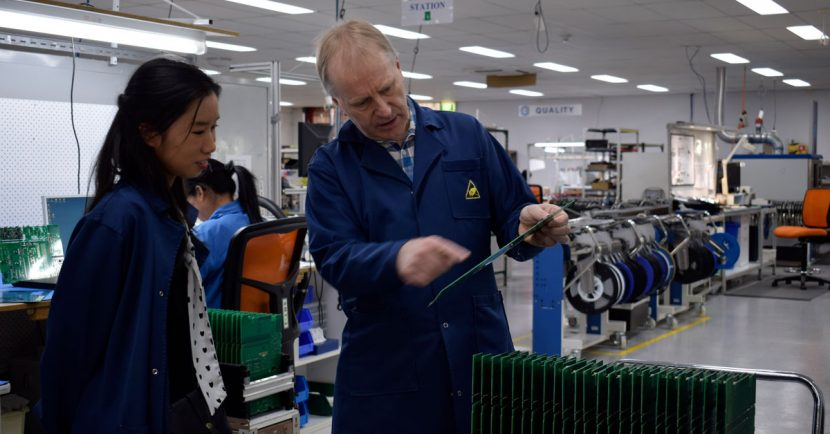 Stephen Bell explains Michelle Yan manufacturing facilities at Setec