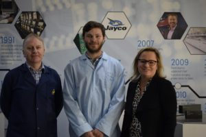 Louise Bayliss, Stephen Bell and Chis Thompson at Setec
