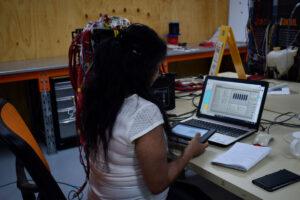 Female engineers testing US Smart RV system